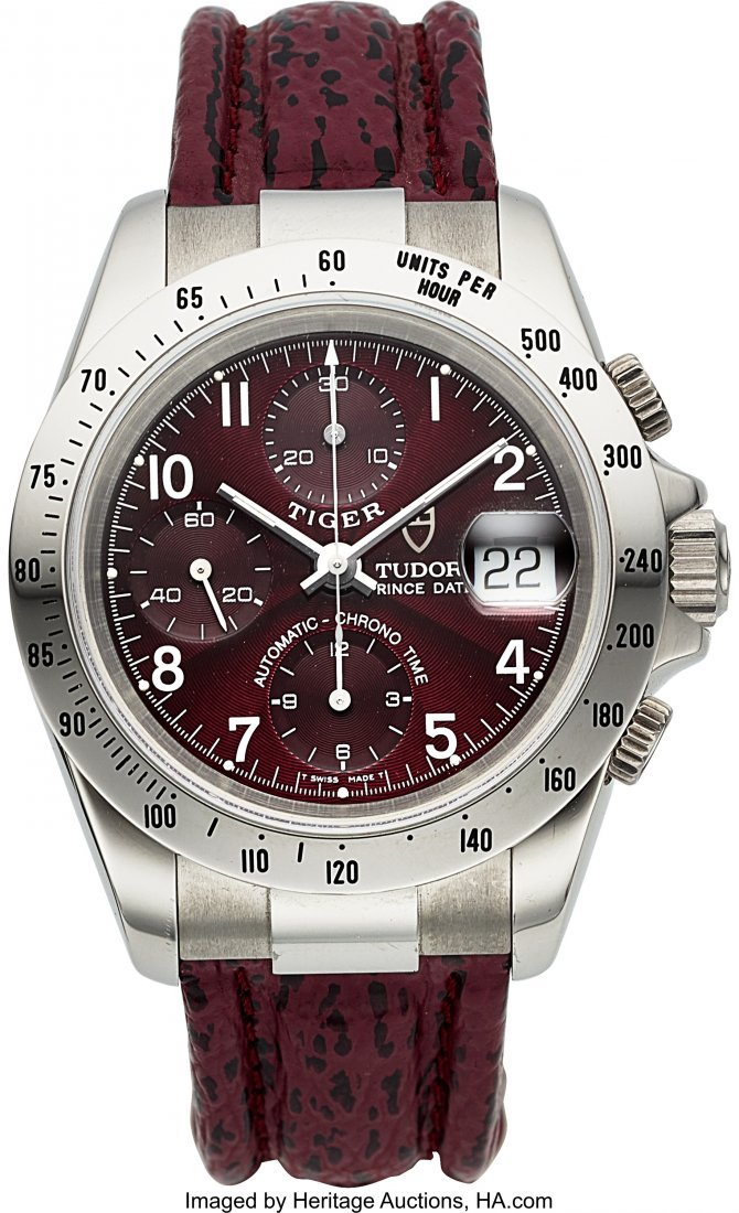 54165: Tudor Ref. 79280 Unused Prince Date Steel Chrono