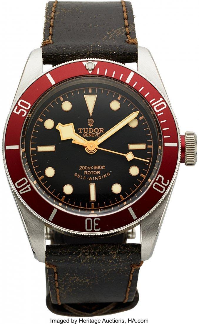 54166: Tudor Heritage Black Bay ref. 79220R Steel Autom