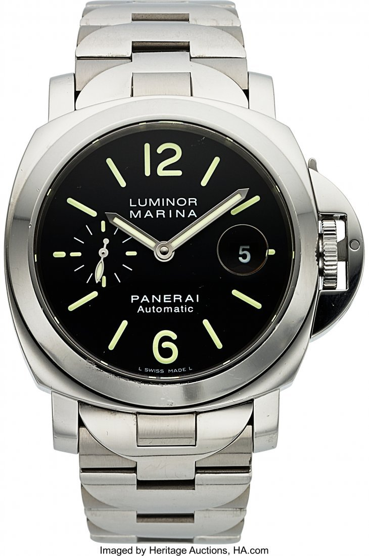 54081: Panerai Steel Luminor Marina 44 mm, PAM00104 Aut