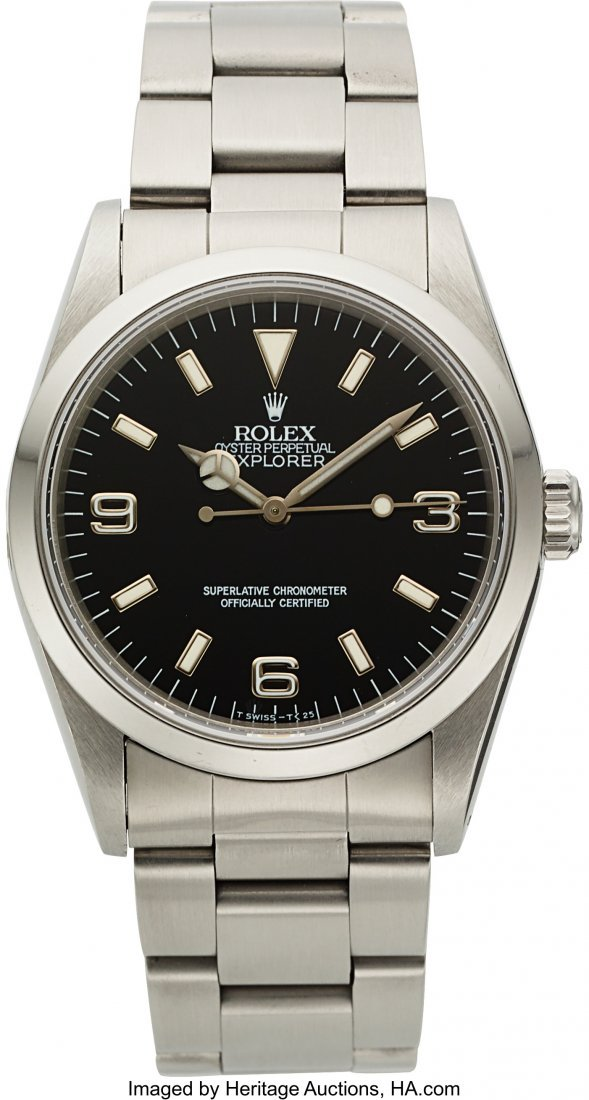 54167: Rolex Ref. 14270 Steel Oyster Perpetual Explorer