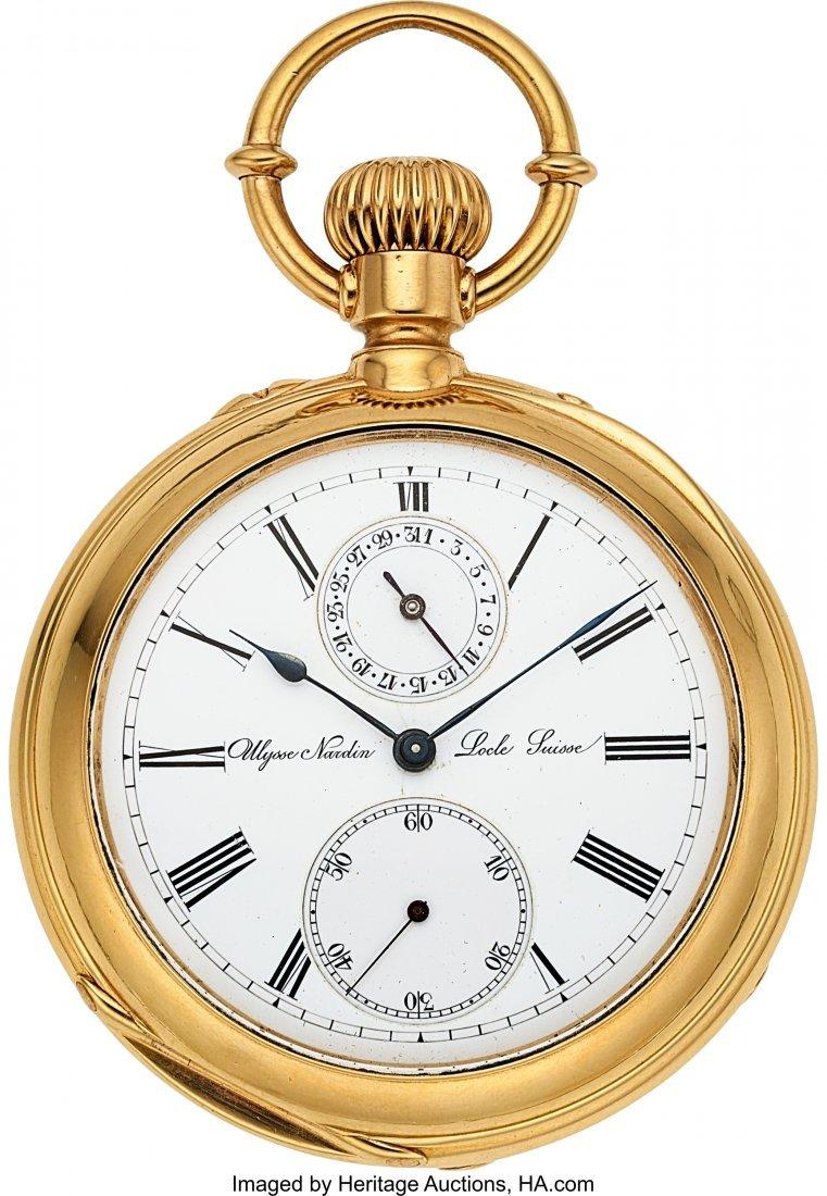 54338: Ulysse Nardin 18k Gold Pocket Chronometer With D