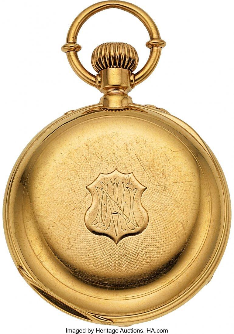 54338: Ulysse Nardin 18k Gold Pocket Chronometer With D - 3