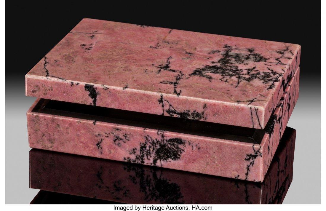 72184: Rhodonite Box Stone Source: Urals Region Russia