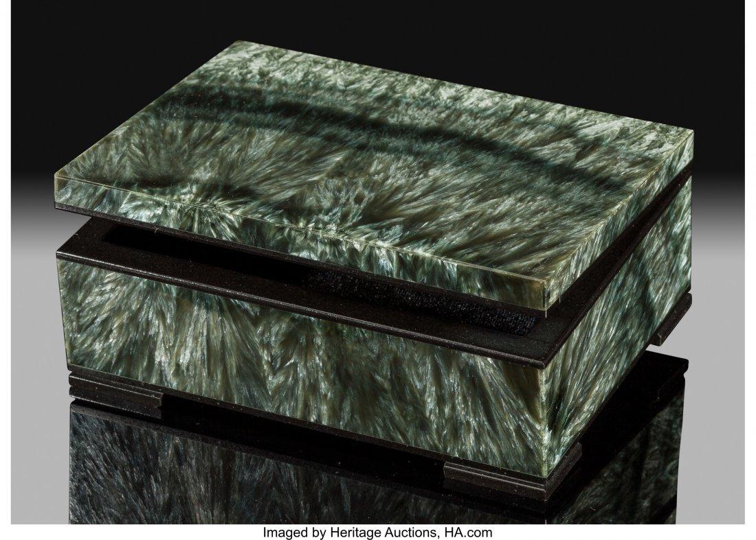 72185: Seraphanite Box Stone Source: Kola Peninsula Mur