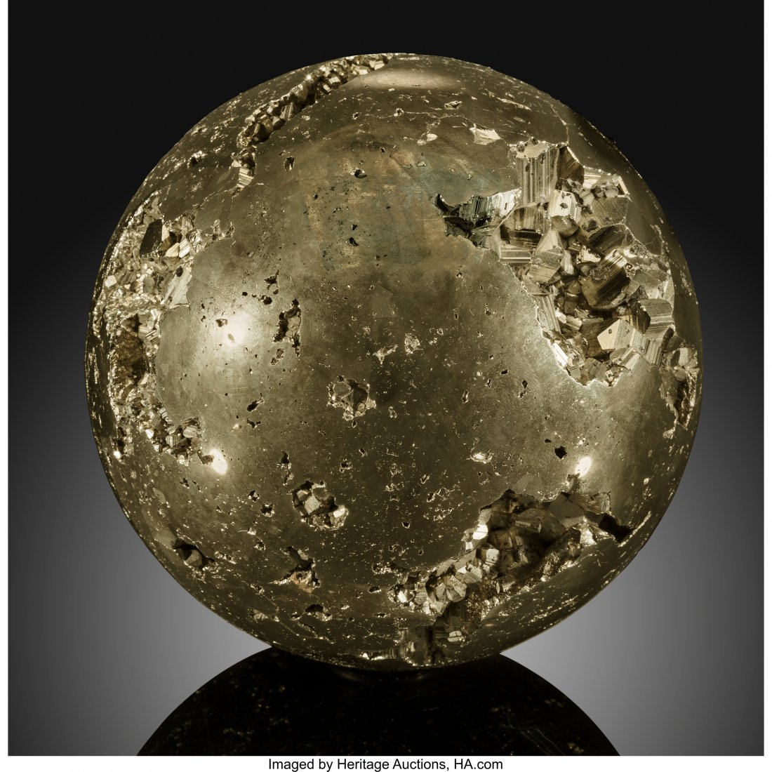 72048: Pyrite Sphere Stone Source: Peru   Pyrite, often