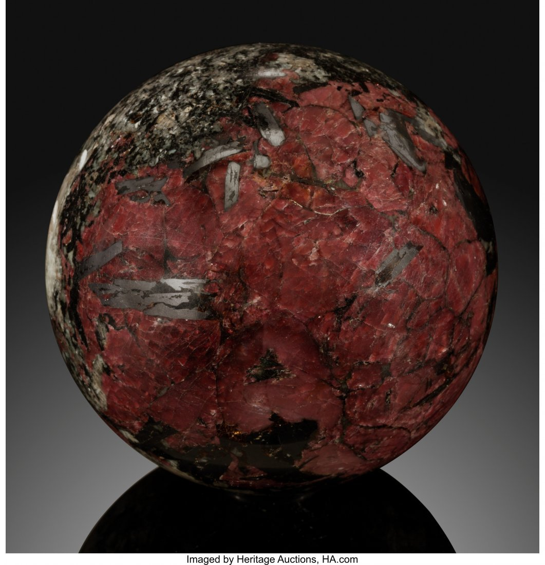 72055: Eudialyte Sphere Stone Source: Canada   This tin