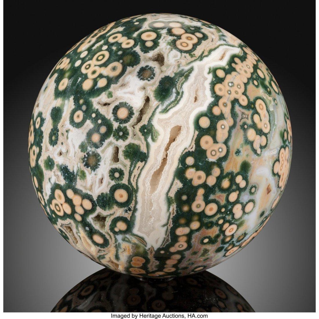 72059: Ocean Jasper Sphere Stone Source: Madagascar   T