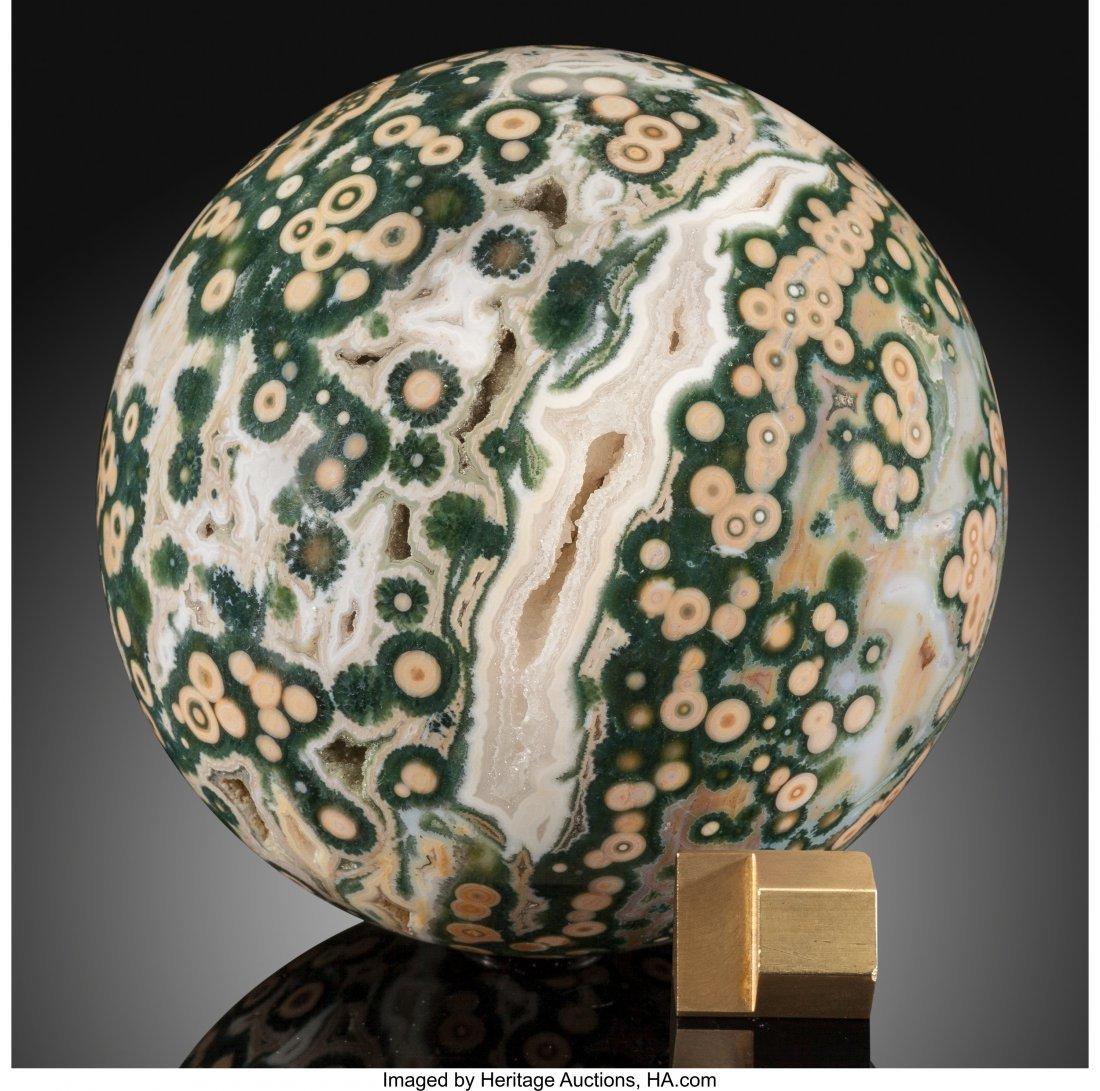 72059: Ocean Jasper Sphere Stone Source: Madagascar   T - 2