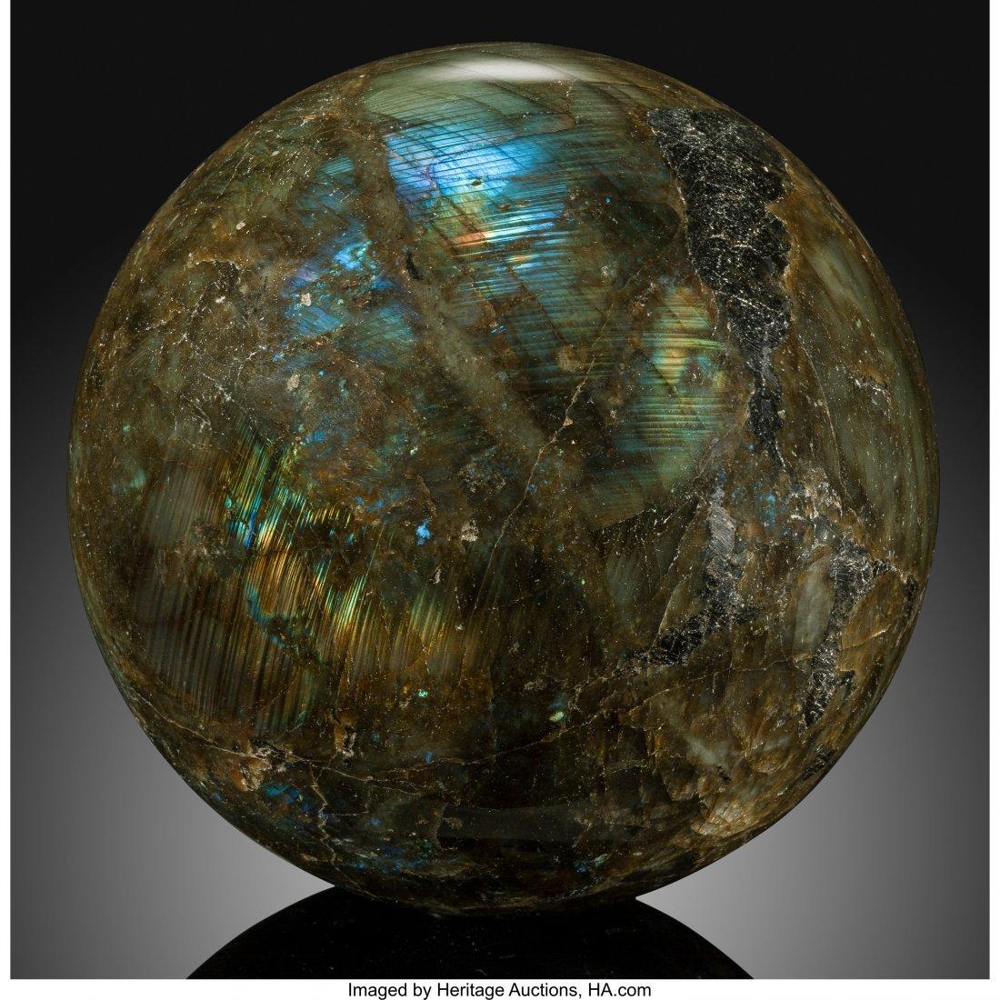 72061: Labradorite Sphere Stone Source: Madagascar   La