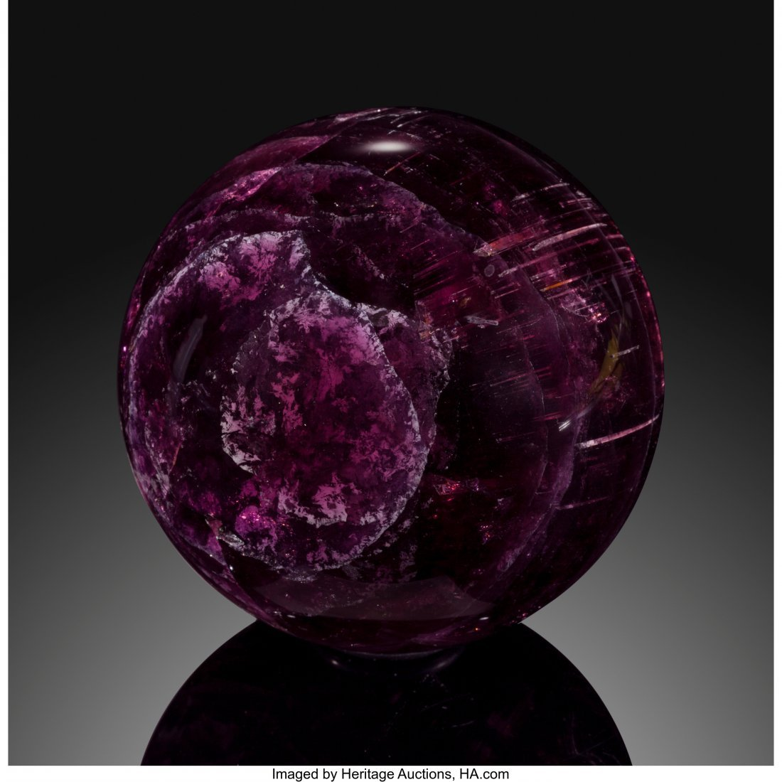 72066: Rubellite Sphere Stone Source: Nigeria   This am