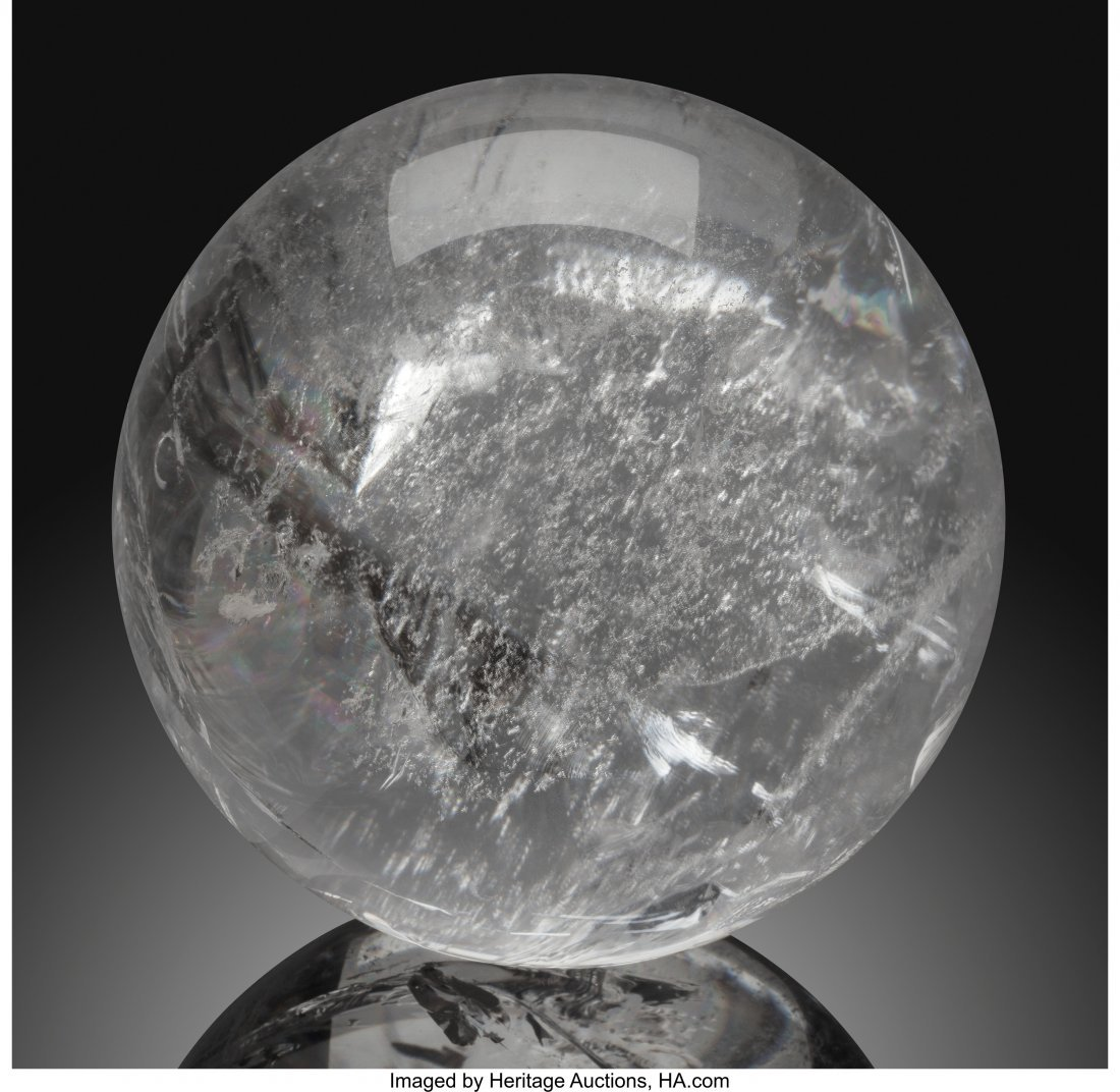 72072: Quartz Sphere Stone Source: Brazil   This medium