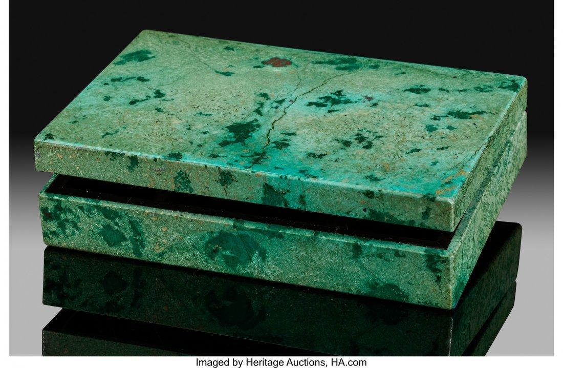 72172: Chrysocolla Box Stone Source: Bisbee, Warren Dis