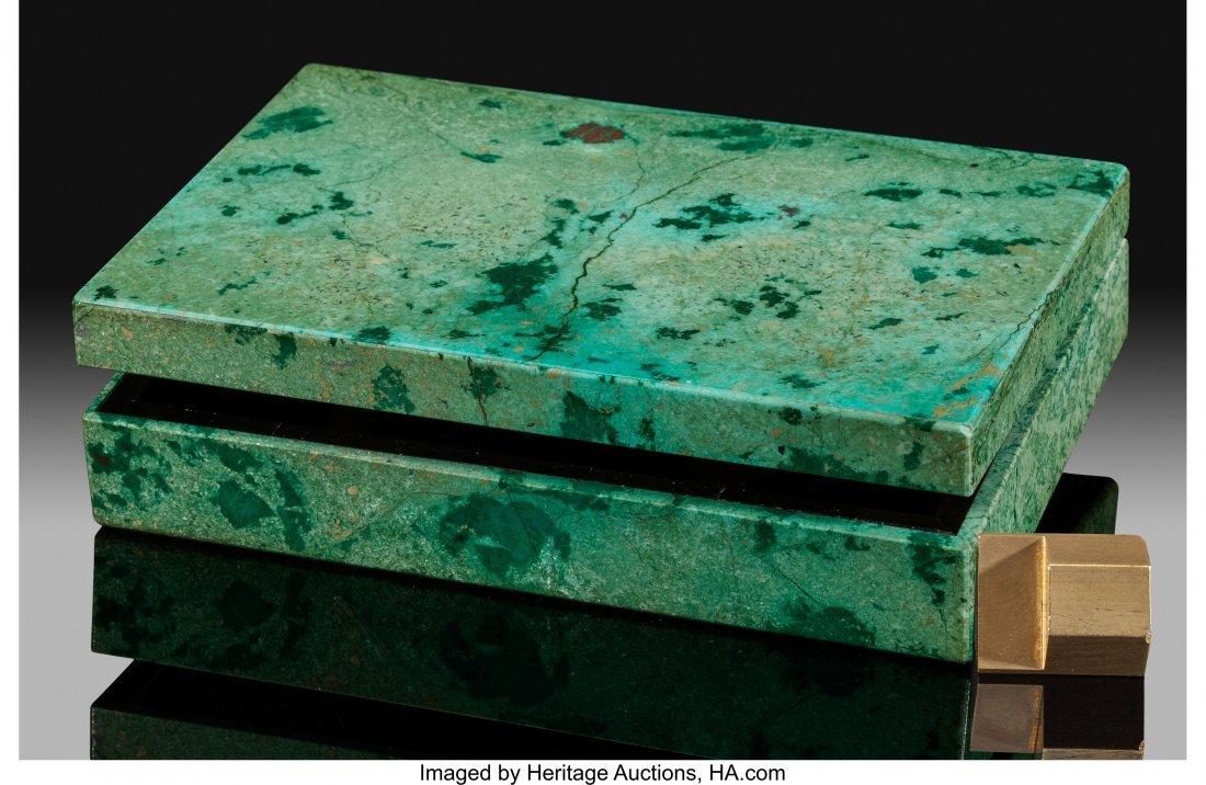 72172: Chrysocolla Box Stone Source: Bisbee, Warren Dis - 2