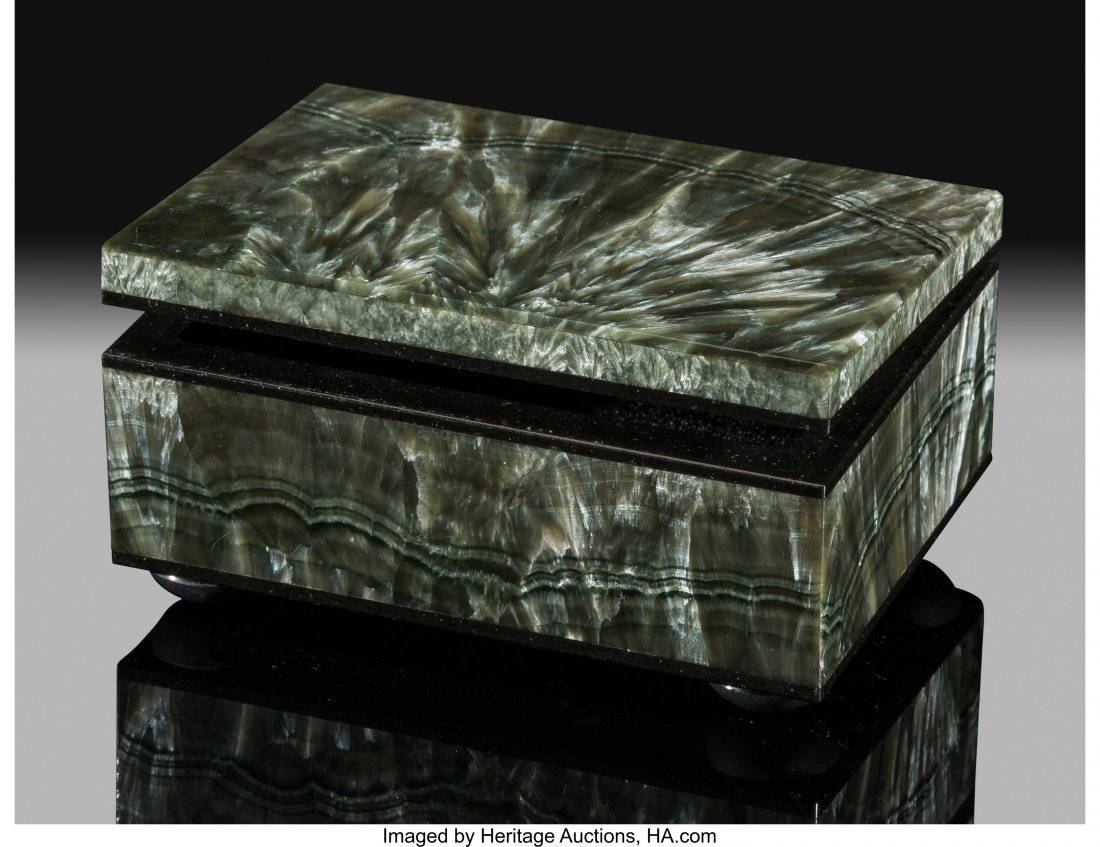72174: Seraphanite Box Stone Source: Kola Peninsula Mur