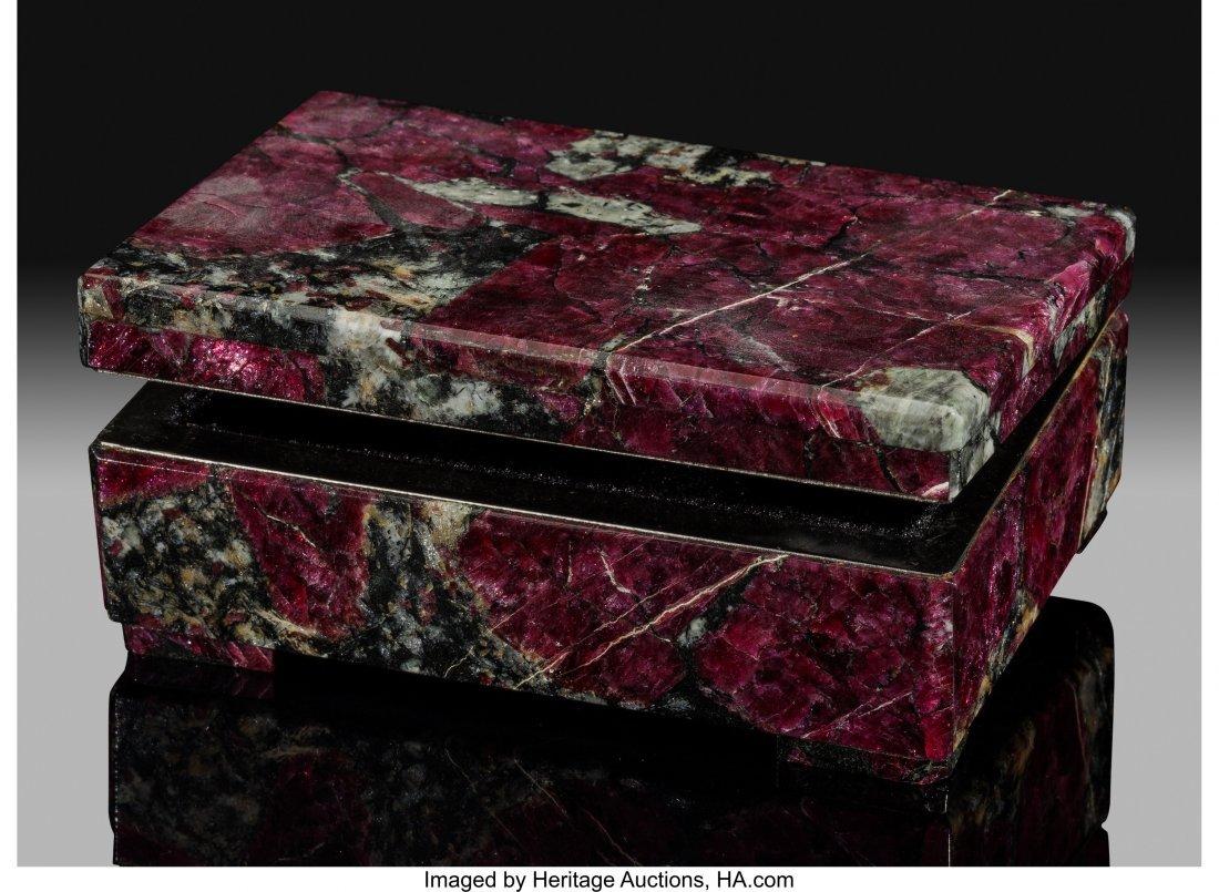 72177: Eudialyte Box Stone Source: Kola Peninsula Murma
