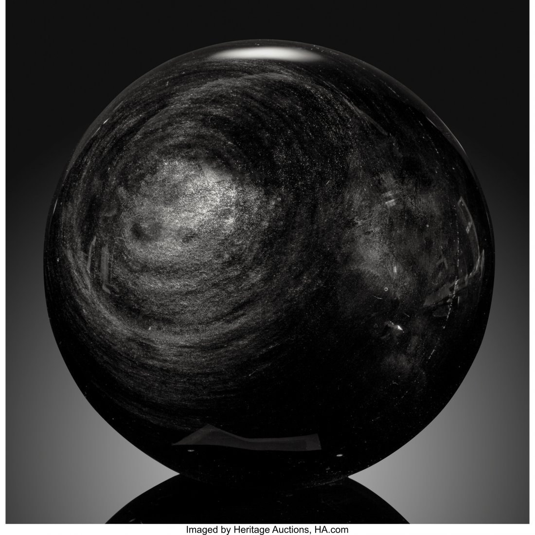 72083: Obsidian Sphere Stone Source: Mexico   This larg