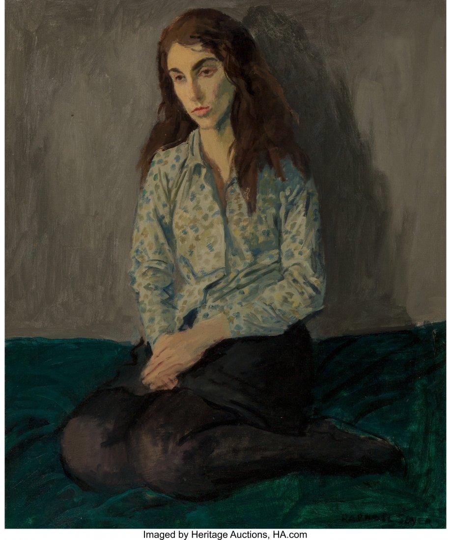 68107: Raphael Soyer (American, 1899-1987) Pensive Mode