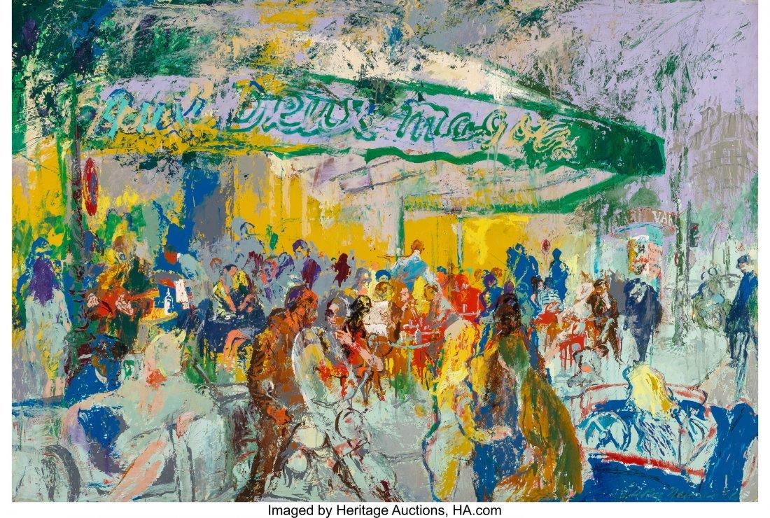 68015: LeRoy Neiman (American, 1921-2012) Paris -- Cafe