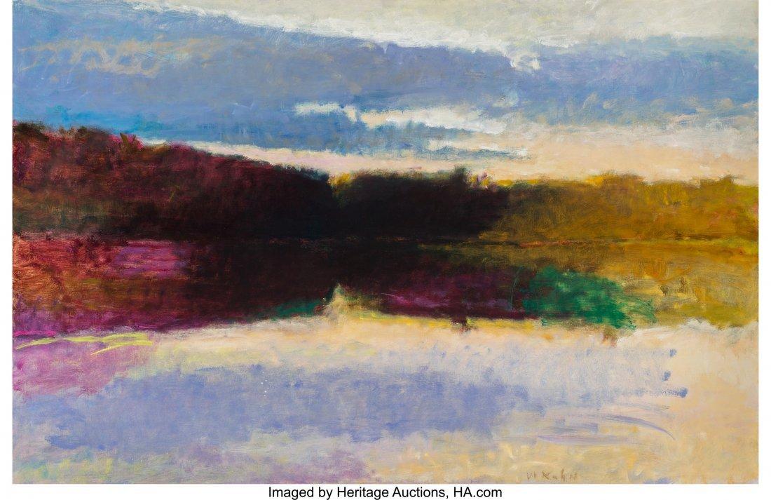 68134: Wolf Kahn (American, b. 1927) Evening Reflection