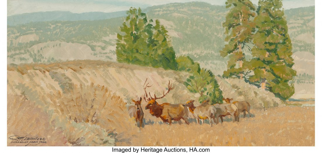 68034: Robert E. Lougheed (American, 1910-1982) Elk in