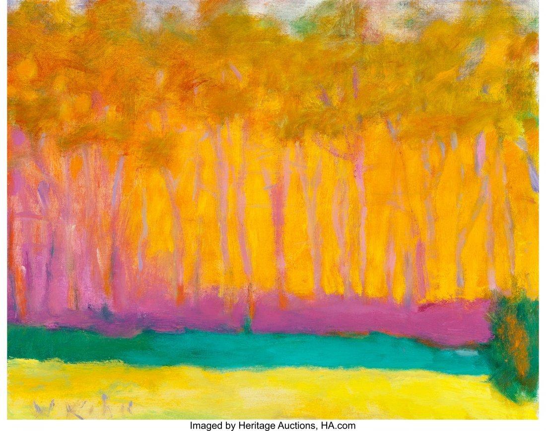 68135: Wolf Kahn (American, b. 1927) Orange Glow with G