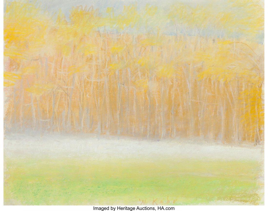 68136: Wolf Kahn (American, b. 1927) Ground Fog in Fall