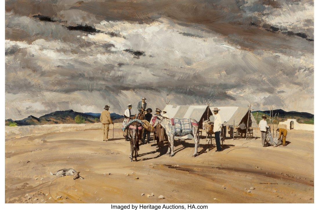 68037: Donald Teague (American, 1897-1991) At the Camp