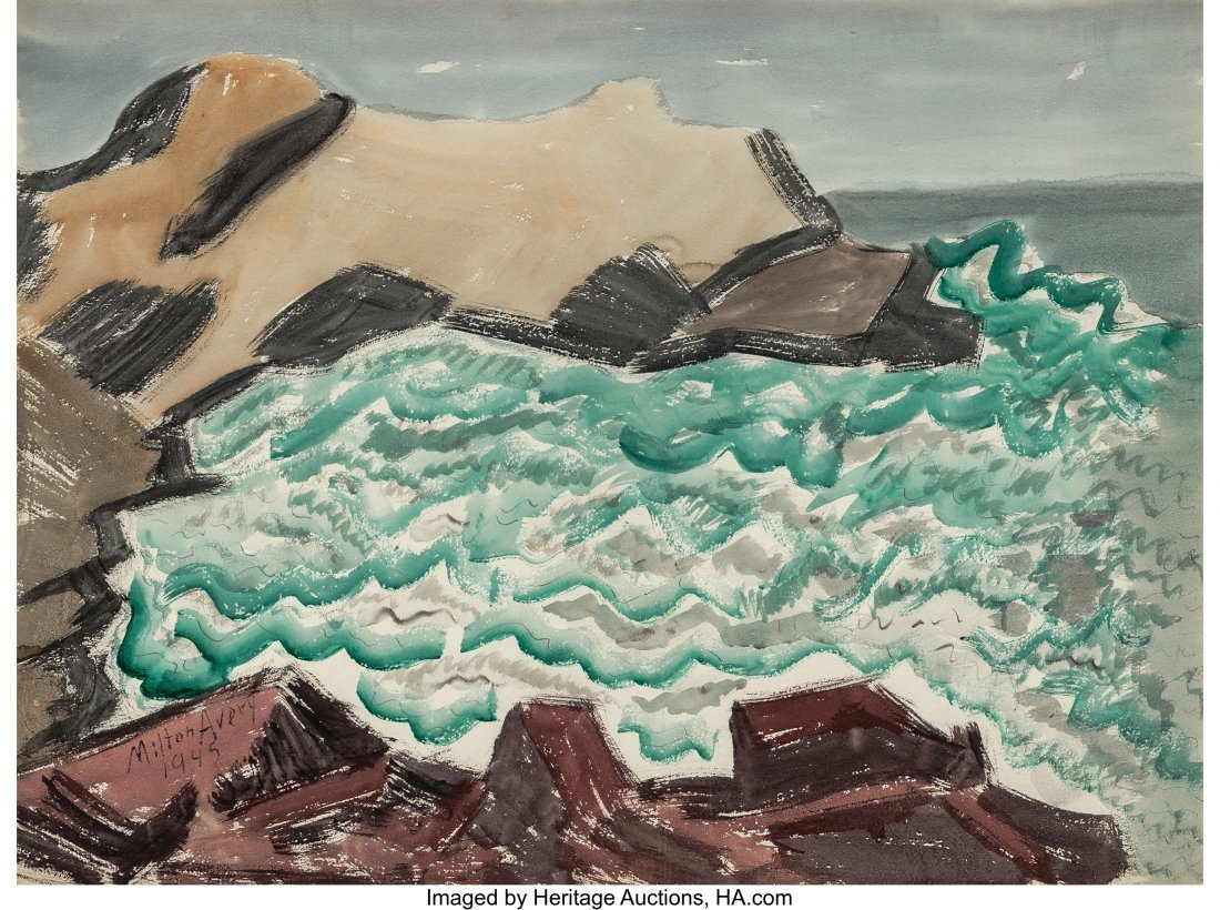 68138: Milton Avery (American, 1885-1965) Churning Bay,