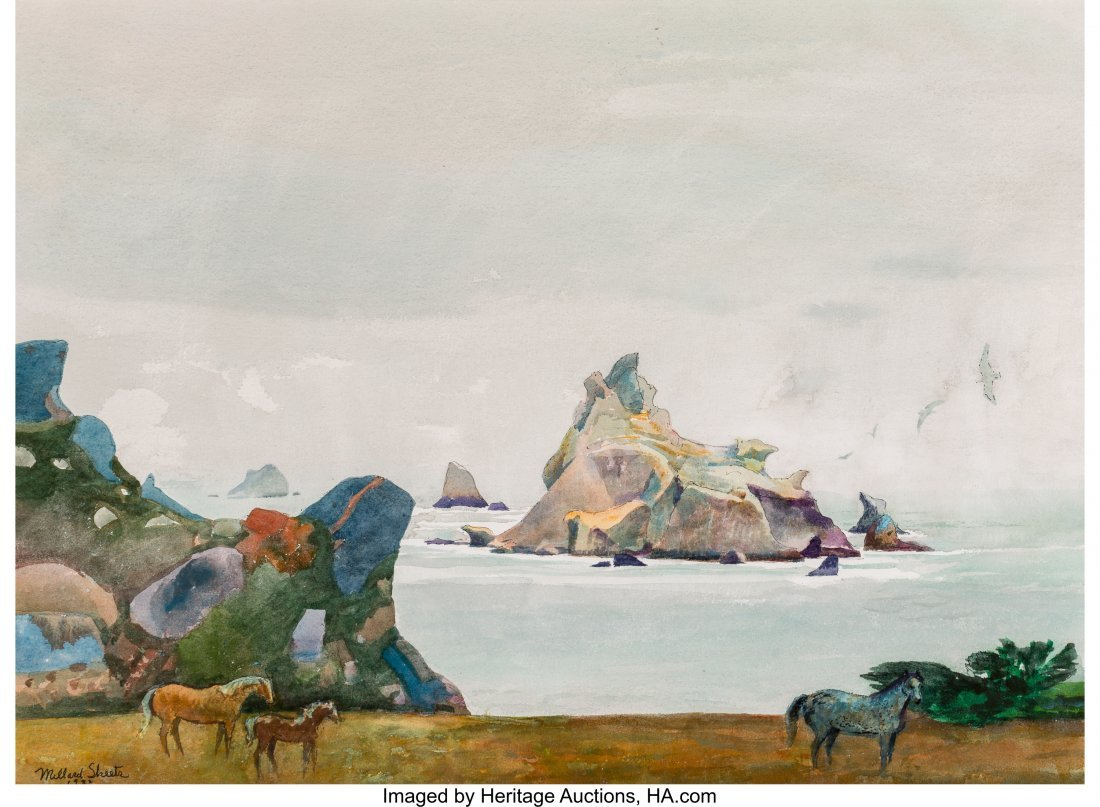 68053: Millard Sheets (American, 1907-1989) The Islands