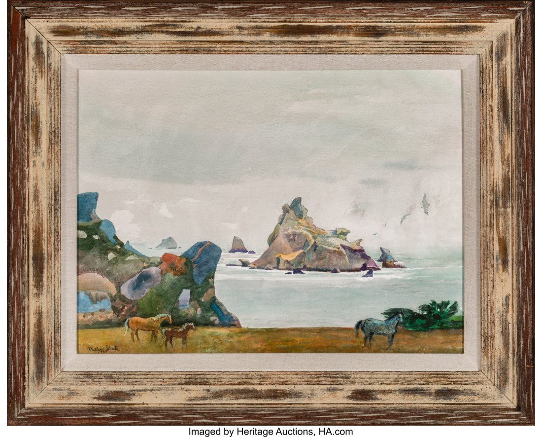 68053: Millard Sheets (American, 1907-1989) The Islands - 2