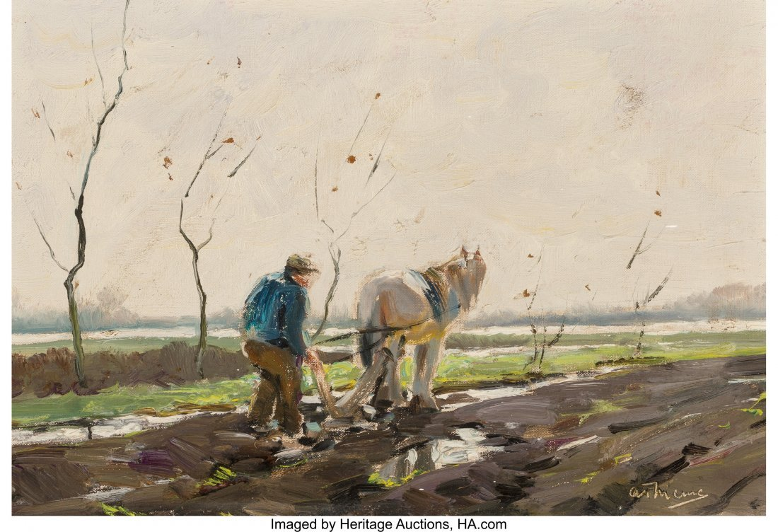 68161: Anthony Thieme (American, 1888-1954) Spring Plow