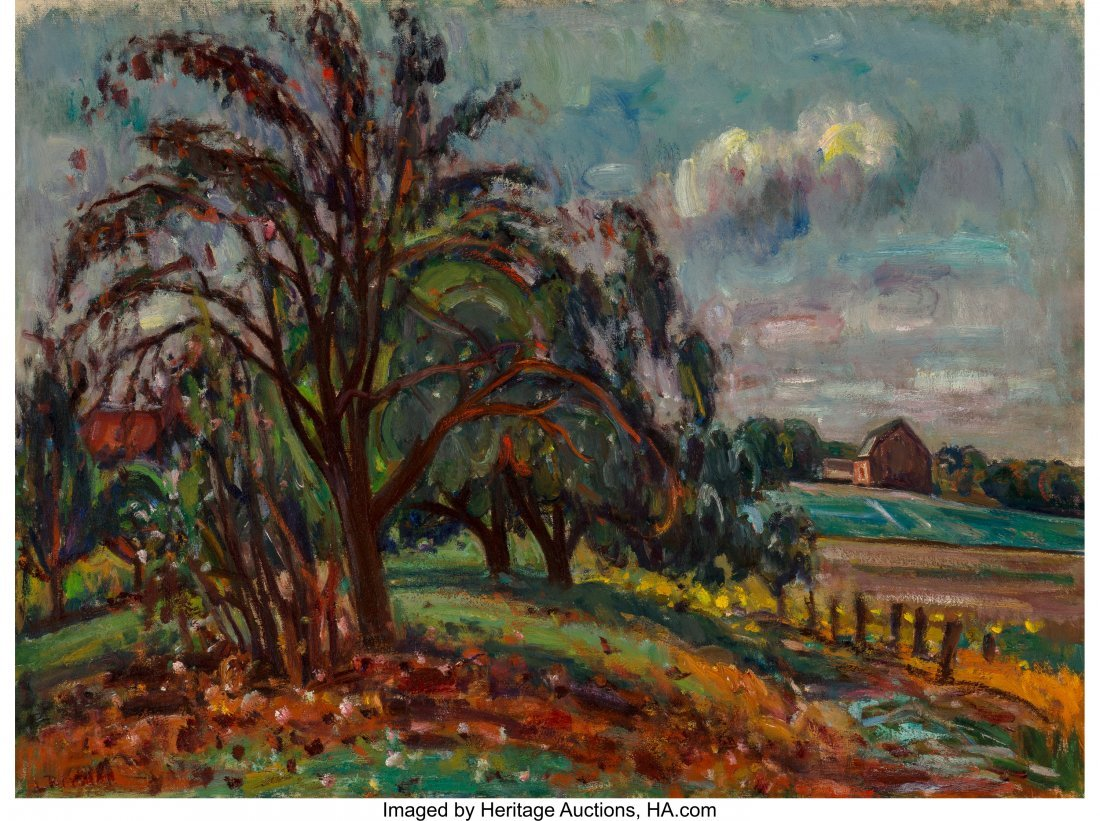 68071: Louis Ritman (American, 1889-1963) Country Scene