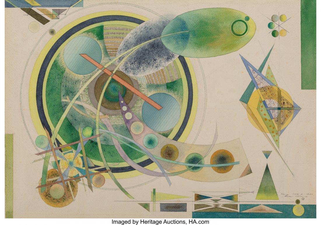 68180: Lloyd Ney (American, 1893-1965) Composition #5,