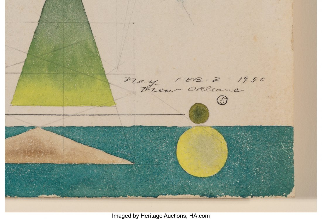 68180: Lloyd Ney (American, 1893-1965) Composition #5,  - 2