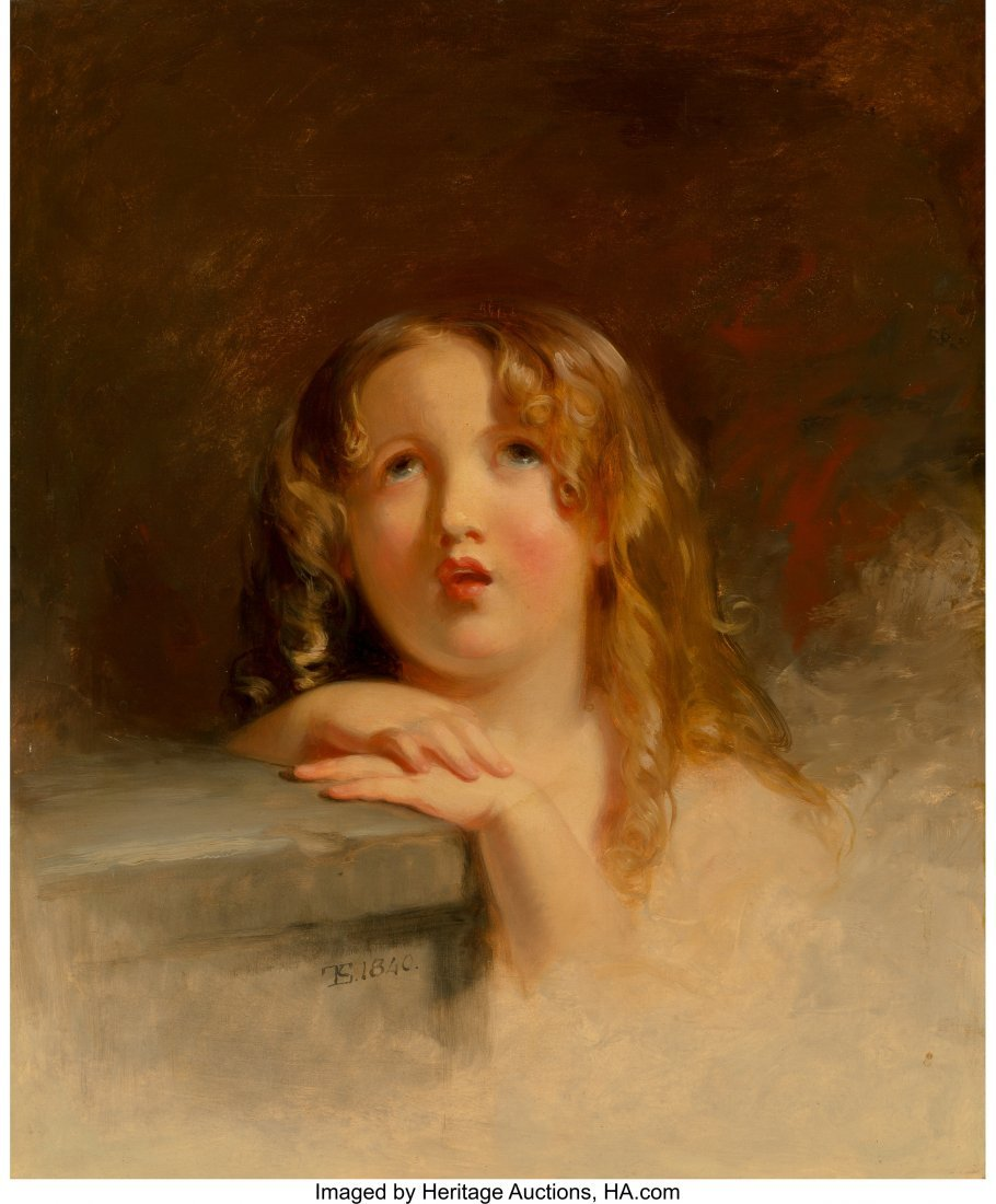 68081: Thomas Sully (American, 1783-1872) Child in Cont