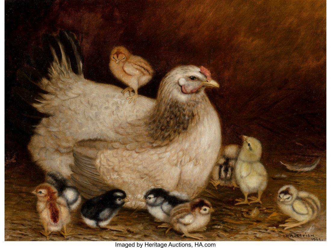68085: Ben Austrian (American, 1870-1921) Mother Hen an
