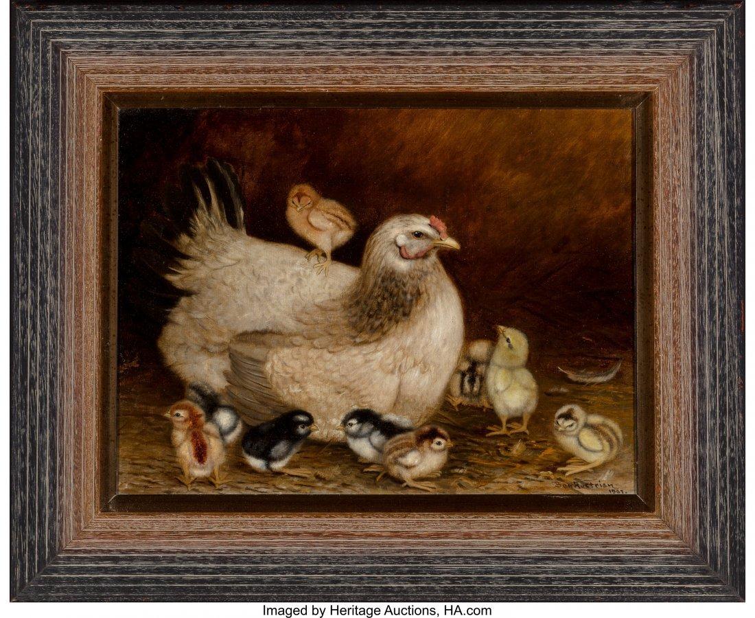 68085: Ben Austrian (American, 1870-1921) Mother Hen an - 2