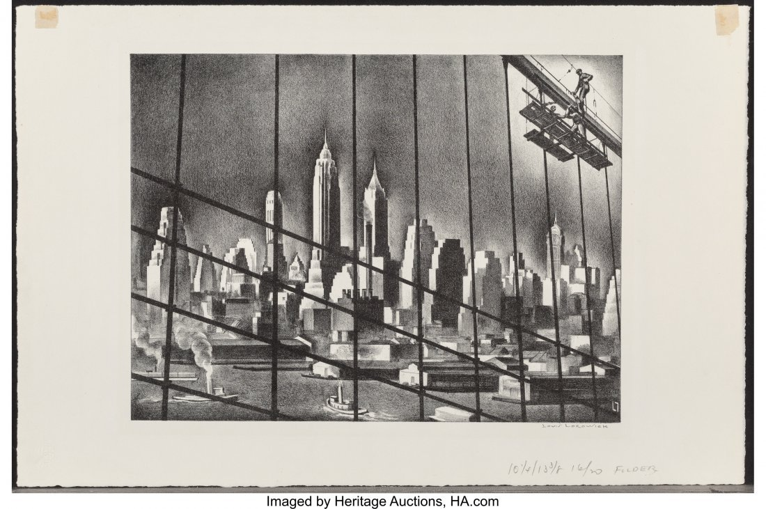 68193: Louis Lozowick (American/Russian, 1892-1973) Thr - 3
