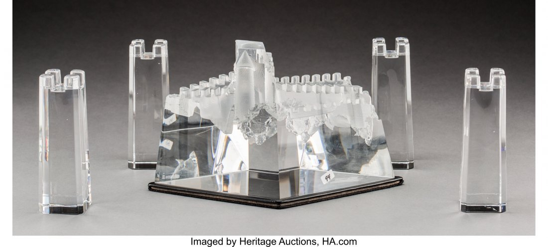 79083: Steuben Clear Glass Castle of Dreams with Four A - 2