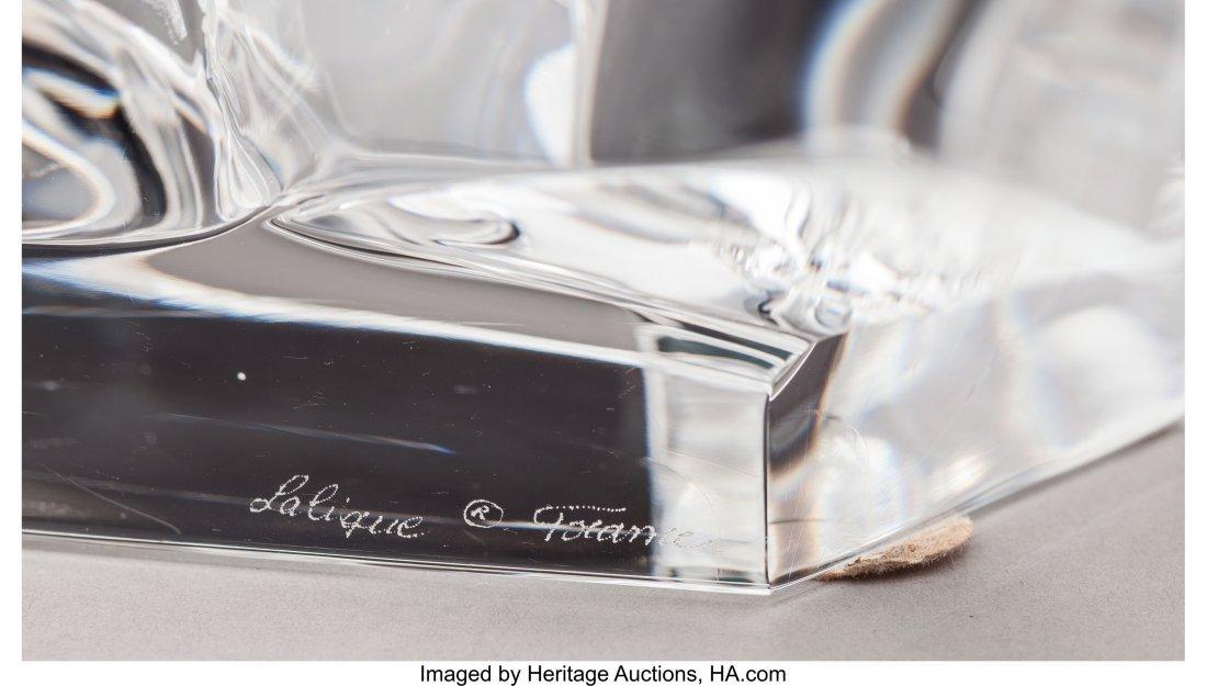 79225: Lalique Clear Glass Tete de Chevel Bust Post-194 - 4