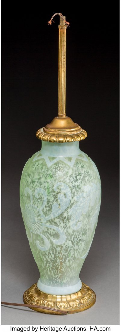 79282: Steuben Cintra Overlay Glass Vase Mounted as a L - 2