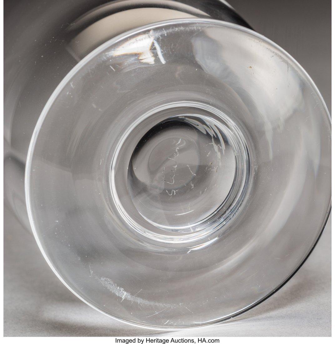 79285: Six Steuben Clear Glass Articles 20th century. E - 3