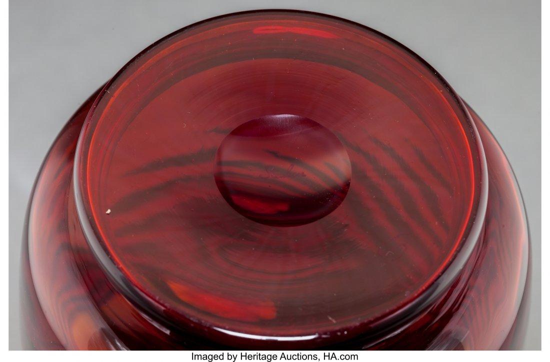 79269: Three Steuben Red Selenium Glass Vases Circa 192 - 3