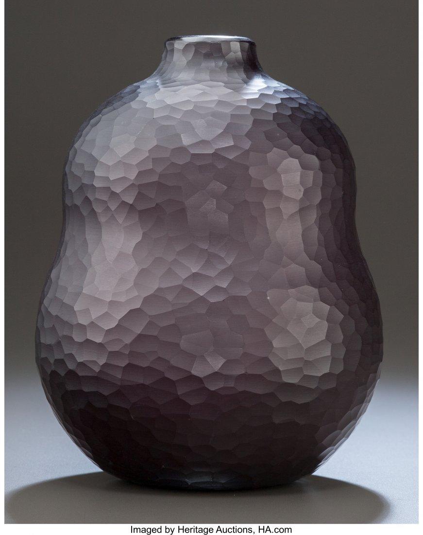 79176: Carlo Scarpa Venini Deep Amethyst Double-Gourd B