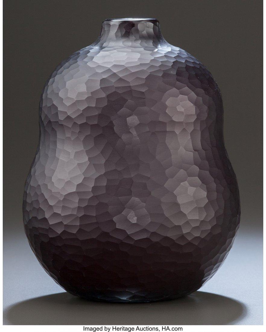 79176: Carlo Scarpa Venini Deep Amethyst Double-Gourd B - 2