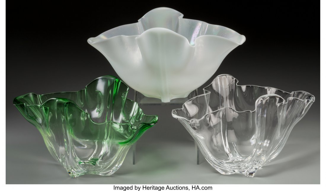 79278: Three Steuben Glass Grotesque Vases Late 20th ce - 2