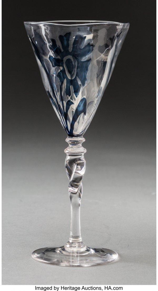 79061: Rare Frederick Carder Steuben Blue Intarsia Glas