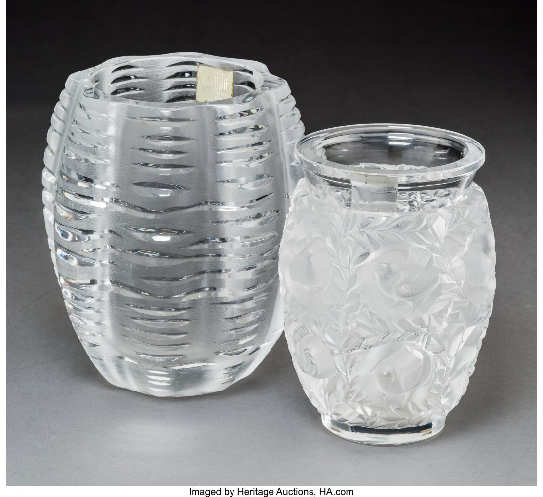 79350: Two Lalique Clear and Frosted Glass Vases Post-1 - 2