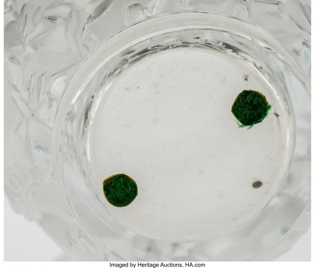 79350: Two Lalique Clear and Frosted Glass Vases Post-1 - 4