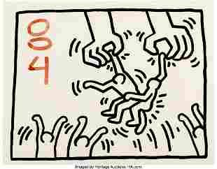 77054: Keith Haring (1958-1990) Untitled, 1984 Sumi ink